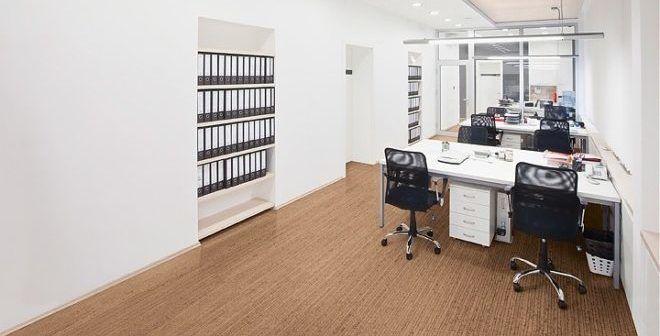 Пробковый пол в офисе