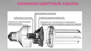 Устройство люминесцентной лампы