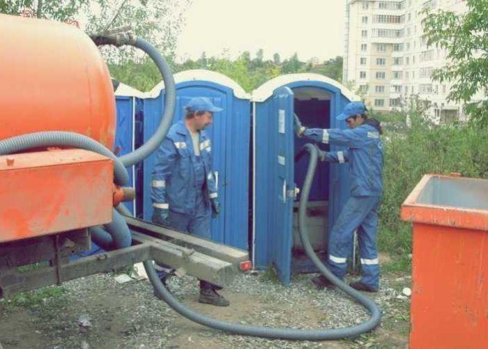 Выкачка содержимого туалетов