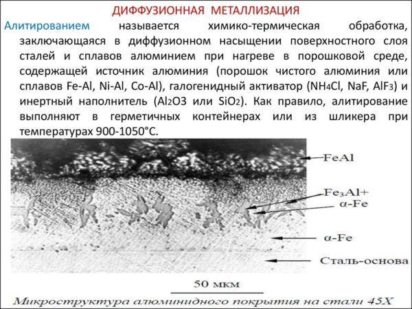 Диффузионная металлизация стали