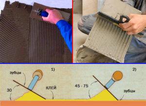 Как правильно наносить клей для плитки зубчатым шпателем