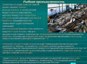 Как развивается рыбная промышленность в России