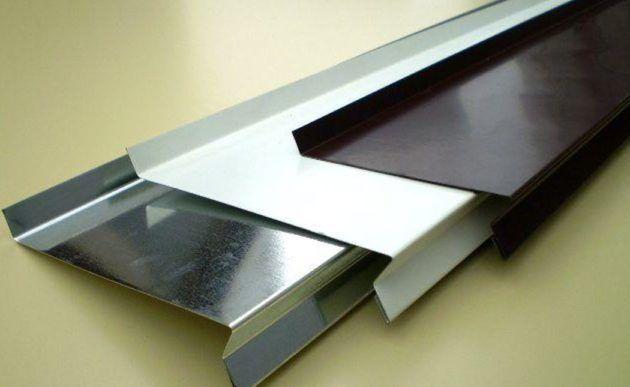 Металлический отлив с полимерным покрытием
