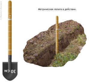 Метрическая лопата