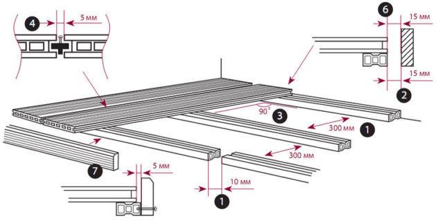 Монтаж террасного покрытия