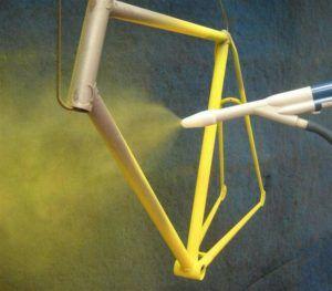 Порошковая краска используется в промышленном производстве металлических изделий