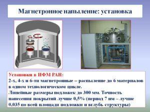 Процесс магнетронного напыления