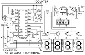 Счетчик для намоточного станка - схема