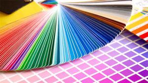 Состав краски не колеруется и выбор идёт из готовой палитры оттенков