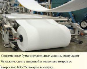 Современная машина по производству бумаги