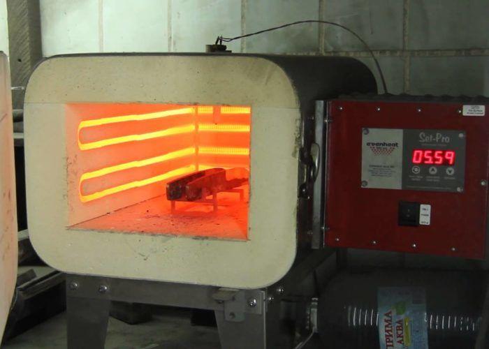 Электрическая печь для закалки стали