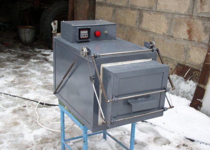 Электронная печь для закалки топора