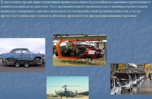 Инвестиционная привлекательность предприятий машиностроения России