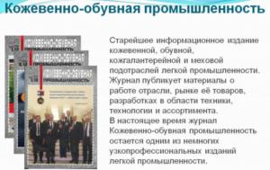 Кожевенно-обувная промышленность в России