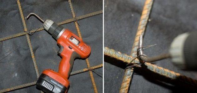 Крючок для вязки арматуры из шуруповерта
