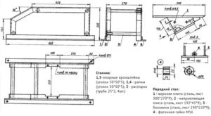 Настольный фуговальный станок — чертеж