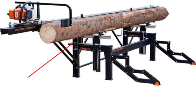 Погрузочная рампа для электрической пилорамы Логосоль