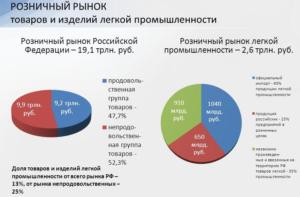 Розничный рынок товаров и изделий легкой промышленности России на 2017 год