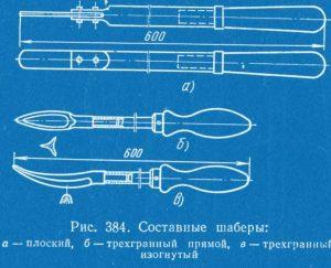 Конструкции шабера