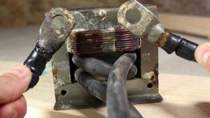 Трансформатор от микроволновки для споттера